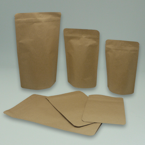 Coffee Bag Kraft Paper Flat Block Bottom Box Pouch With Tin Tie Bags Valve Stand Up Zipper Side Gusset Pouches